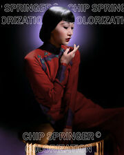 ANNA MAY WONG IN RUST COLOR DRESS 8X10 BEAUTIFUL COLOR PHOTO BY CHIP SPRINGER