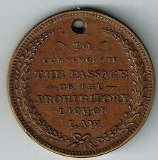 STATE OF NEW YORK 1855 NO REPEAL PASSAGE OF THE PROHIBITORY LIQUOR LAW TOKEN