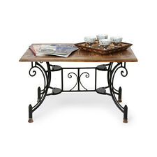 Onlineshoppee Wood & Iron Handmade Design Coffee Table Size(LxBxH-30x20x18) Inch