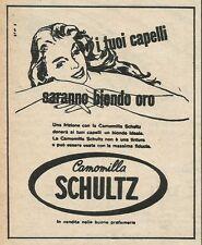 W8594 Camomilla SCHULTZ i tuoi capelli d'oro - Pubblicità 1963 - Vintage Advert