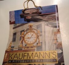 Vintage 80s NOS Kaufmann's Dept Store Clock Downtown Pittsburgh Shopping Bag