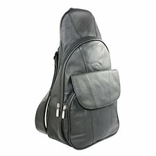 Genuine Leather Backpack Chest Pack Daypack Sling Bag Shoulder Bag New