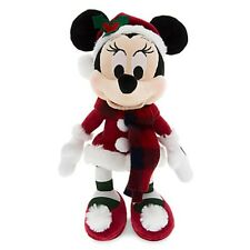 "DISNEY PARKS AUTHENTIC HOLIDAY SANTA MINNIE MOUSE RETRO PLUSH 9 "" H BRAND NEW"