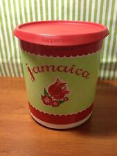 """Tupperware Blossom One Touch Canister """"Jamaica"""" 18 Cups"""