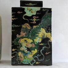 Té chino Raro Caddy Antigüedades chinos marca