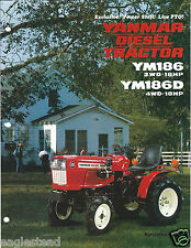 Farm Tractor Brochure - Yanmar - YM186 D Loader Mower - 3 items (F4238)