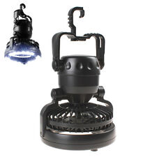 Black 2-in-1 Portable 18 LEDs Tent Camping Light LED Lantern with Ceiling Fan