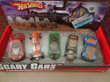 Hot Wheels Scary Cars 5 Tricked-Out Treats for you to race - NEW