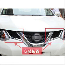 ABS Chrome Front Center Grille Grill cover trim 2pcs for Nissan Rogue 2014-2016