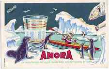 Beautiful original Amora Mustard Advert in Art Deco Style tiny poster Polar eski