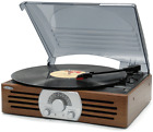 NEW JENSEN 3-SPEED STEREO TURNTABLE RECORD PLAYER WITH AM FM RADIO JTA-222