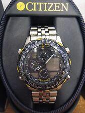 Citizen Mens Navihawk Blue Angels Pilot Watch Chronograph World Time C300-Q00842