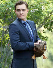 Ed Westwick UNSIGNED photo - E1949 - With a duck!!!!