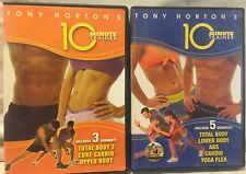 8 10 Minute Trainer workouts on 2 DVDs lot set, Tony Horton Beachbody total body
