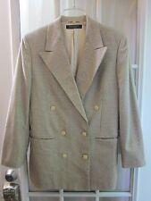 Brooks Brothers 100% Silk Beige Checks Double Button Up Blazer/J  Women 8**EX