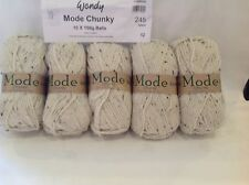 WENDY MODE CHUNKY KNITTING 50% MERINO WOOL ISLAND MIX 5X100G RAMSDEN SHADE 245