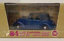 BRUMM R84 FIAT 508C 1100 cabriolet HP32 diecast car dark blue black roof 1:43