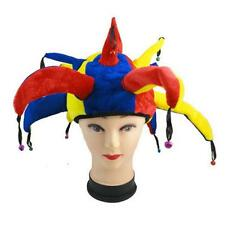Funny Jester Clown Hat Mardi Gras Carnival for Halloween Party Cosplay Costume