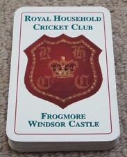 ROYAL HOUSEHOLD CRICKET CLUB - WINDSOR - VINTAGE PACK OF PLAYING CARDS