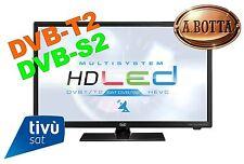 """TV LED LCD HD Ready 24"""" Trevi LTV 2401 SAT TivùSat Nero - 12 Volt DVB-T2 DVB-S2"""