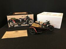 Harley Davidson 1:12 scale Black 1933 Collectible Motorcycle/Sidecar Bank w/key