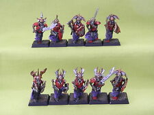 WARHAMMER VAMPIRE COUNTS ARMY - GRAVE GUARD  X 10  WELL  PAINTED PLASTIC E5