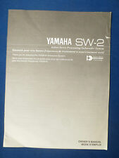 YAMAHA SW-2 SUBWOOFER OWNERS MANUAL ORIGINAL FACTORY ISSUE