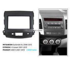 2Din Car Radio Fascia Panel Kit for 2008-2012 Mitsubishi Outlander Combination