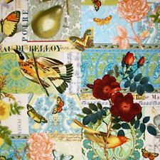 FRENCH JOURNAL YELLOW ANJOU POUR VOUS MICHAEL MILLER FABRIC 1/2 YD