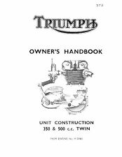 Triumph Owners Manual Book 1964 Tiger 90 T90 & 1964 Tiger 100 T100/SS