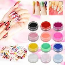 12 Mix Di Colori Acrilico Nail Art Tips Gel UV Polvere polvere 3D