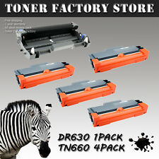 4PK TN660 Toner + 1PK DR630 Drum For BROTHER DCP-L2520DW L2540DW MFC-L2700DW