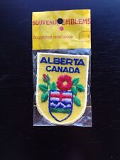 New Vintage Alberta Canada Wild Rose Flag Patch AB Canadian Souvenir Sales Ltd