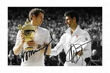 ANDY MURRAY & NOVAK DJOKOVIC AUTOGRAPHED SIGNED A4 PP POSTER PHOTO