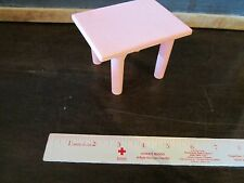 Toy Little Dollhouse Doll part table kitchen playskool pink 4 Tikes accessories