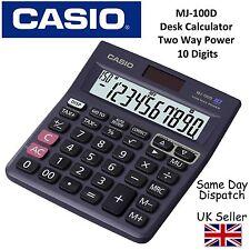 Casio mj100d mj-100d calcolatrice da scrivania -10 digit DISPLAY,150 passo Ricontrolla