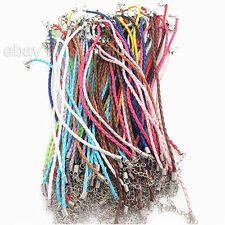 60pcs New Wholesale Assorted Leather Braided Bracelet Cords Findings 20cm BS
