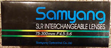 Samyang SLR Camera Lens 75-300mm F4.5-5.6 for NIKON Auto SLR Macro Zoom