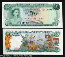 BAHAMAS $1 P27A 1968 QUEEN SHIP UNC CARIBBEAN GB UK CURRENCY MONEY BILL BANKNOTE