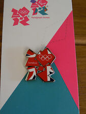 LONDON 2012 PIN BADGE UNION JACK OFFICIAL LOGO OLYMPIC GAMES RIO 2016