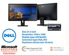 Dell 22 Inch LED Monitor Full HD 1920 x 1080 - VGA, DVI - 5ms Model E2214H