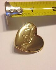 """Disney Arm And Wand Fairy Gold Colored Heart Pin Brooch The Variety Club 1""""x1"""""""