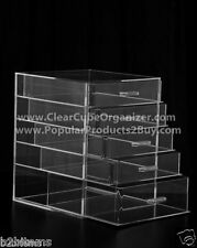 Acrylic Lucite Clear Cube Makeup Organizer The Kardashians Display 5 pull out dr