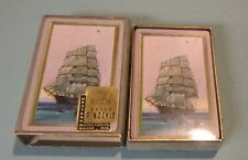 Vintage Western Guild Sailing Ship Pinochle SEALED Playing Cards Deck Gold Edge