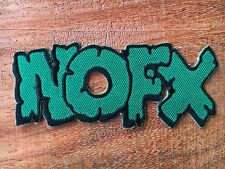 NOFX Logo Metal Punk Rock Music Band Sew Iron On Embroidered Patch Applique