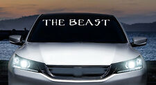 The beast monster muscle windshield banner vinyl decal, car, trucks