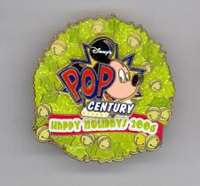 WDW Disney Pop Century Resort Happy Holiday Wreath Mickey Mouse LE Pin