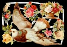 6 PC LOT BIRDS NEST DOVE ROBIN GERMAN DIE CUT SCRAP BOOK PAPERS VICTORIAN SCRAPS