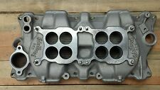 Dual quad aluminum racing intake2 4 barrel bbl brl low rise high performance sbc