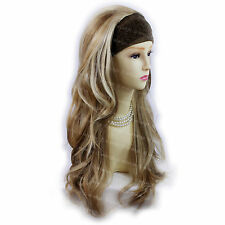 Blonde Brown 3/4 Fall Hair Piece Long Straight Layered Lady Half Wig WIWIGS UK